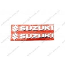 Наклейка букви SUZUKI хром