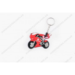 Брелок гумовий байк Suzuki (червоний)
