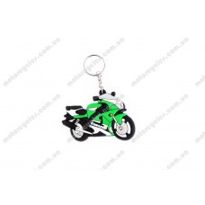 Брелок гумовий байк KAWASAKI (зелений)