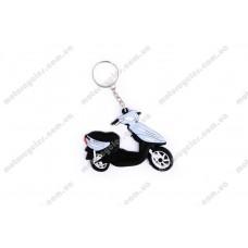 Брелок гумовий скутер (синій)