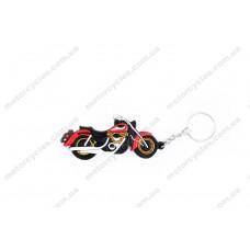 Брелок гумовий чопер HONDA SHADOW (червоний)
